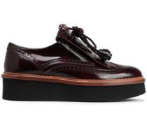 Tasseled Glossed-leather Brogues Merlot