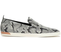 Vero Snake-print Leather Slip-on Sneakers Animal Print
