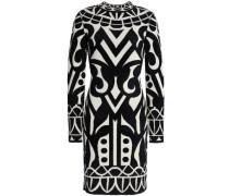 Jacquard-knit mini dress