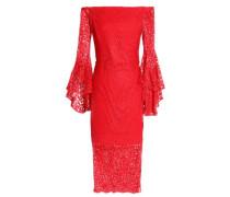 Selena off-the-shoulder guipure lace dress