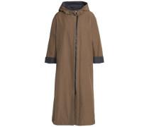 Twill hooded coat