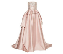 Embellished Tulle-trimmed Silk And Wool-blend Gown Pastel Pink