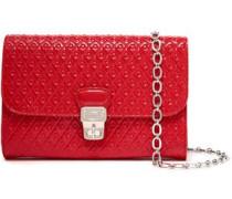 Embossed Patent-leather Shoulder Bag Red Size --