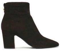 Suede Ankle Boots Dark Brown