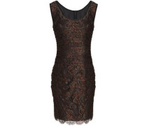 Ruched corded lace dress