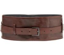 Textured-leather Waist Belt Brown