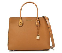 Snake-effect Pebbled-leather Tote Light Brown Size --