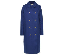 Double-breasted Waterproof Cotton-gabardine Coat Royal Blue