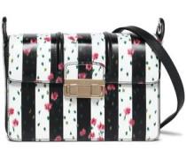 Jiji striped leather shoulder bag