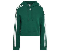 Grosgrain-trimmed French Cotton-terry Hoodie Emerald