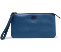 Neon Pebbled-leather Pouch Royal Blue Size --