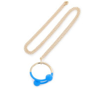 Gold-tone Enamel Necklace Gold Size --