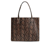 Snake-effect Leather Tote Animal Print Size --