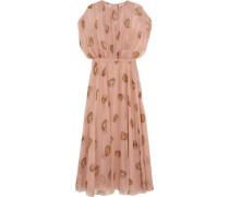 Printed Silk-chiffon Gown Pastel Pink