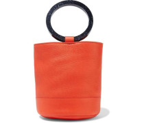 Bonsai Pebbled-leather Bucket Bag Bright Orange Size --