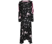 Sora Paneled Printed Crepe De Chine Maxi Dress Black