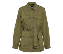 Lang Belted Cotton-twill Jacket Army Green