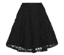 Earla flared guipure lace skirt