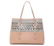 Embellished Leather Tote Blush Size --