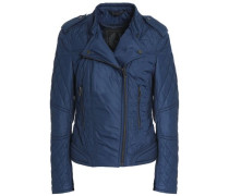 Quilted Shell Jacket Blue