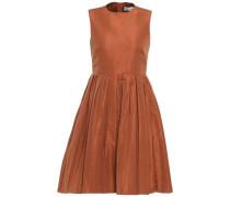 Woman Pleated Faille Mini Dress Copper