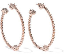Palazzo rose gold-tone hoop earrings