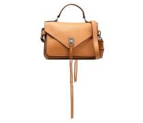 Pebbled-leather Shoulder Bag Camel Size --