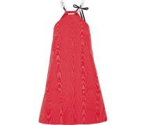 Knotted satin mini dress