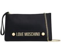 Embellished Faux Leather Clutch Black Size --