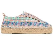 Los Angeles Lurex-tweed Espadrille Sneakers Rose Gold