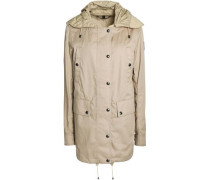 Cotton-twill hooded jacket