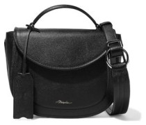 Woman Hudson Textured-leather Shoulder Bag Black
