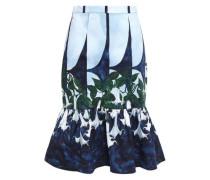 Fluted Stretch-cotton Skirt Light Blue