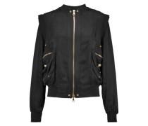 Satin-twill bomber jacket