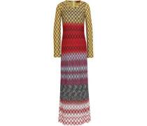 Crochet-knit Maxi Dress Yellow