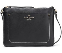 Textured-leather Shoulder Bag Black Size --