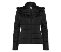 Ruffle-trimmed quilted shell jacket