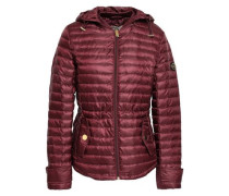 Quilted Shell Hooded Jacket Merlot