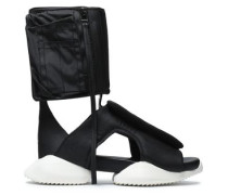 Cutout shell and neoprene high-top sneakers