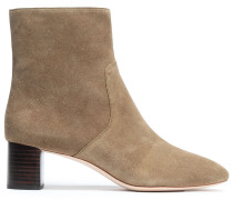 Woman Suede Ankle Boots Sage Green