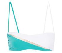 Color-block bandeau bikini top