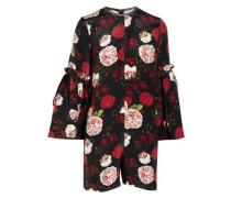 Curtis floral-print silk playsuit
