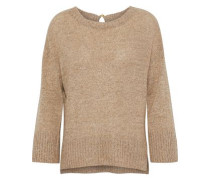 Tie-back linen and cashmere-blend sweater