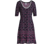 Intarsia-knit mini dress