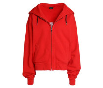 Embellished cotton-terry hooded jacket