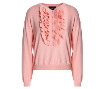 Ruffle-trimmed wool and cotton-blend sweater