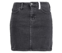 Two-tone Denim Mini Skirt Charcoal  3