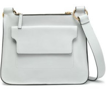 Pebbled-leather Shoulder Bag Light Gray Size --