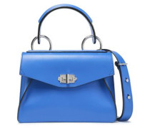Leather Tote Royal Blue Size --