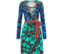 Printed silk-jersey wrap dress